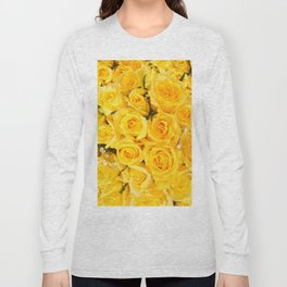 YELLOW ROSES CLUSTERED Long Sleeve T-shirt