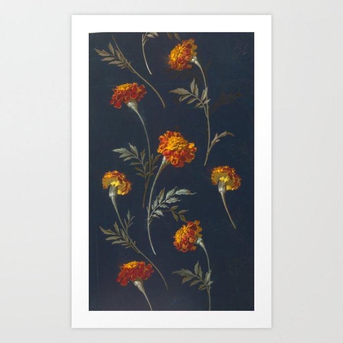 Vintage Marigolds Kunstdrucke