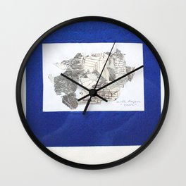 des Königs Blau Wall Clock