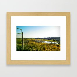 With the Wind Framed Art Print
