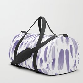 Ultra Violet Feather Pattern Duffle Bag