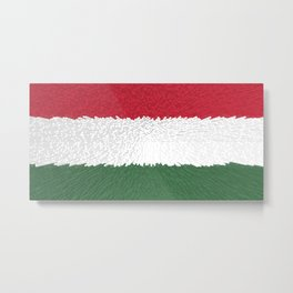 Extruded flag of Hungary Metal Print
