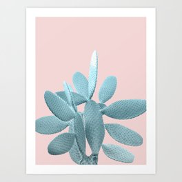 Blush Cactus #1 #plant #decor #art #society6 Art Print