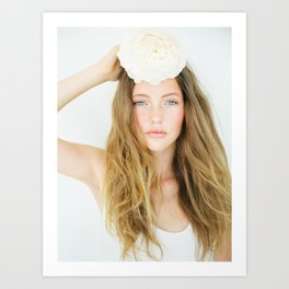 Girl with a flower - Ibiza - Portrait photography Art Print