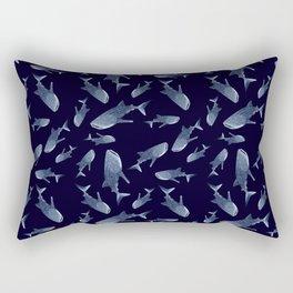 WHALE SHARK PATTERN (NAVY BLUE) Rectangular Pillow