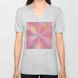 Pink Starburst Pattern Unisex V-Neck