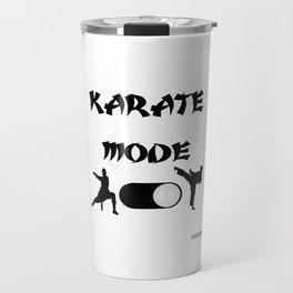 Karate martial arts sports power struggle gift Travel Mug