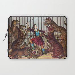 The Lion Queen - Vintage Circus Art, 1873 Laptop Sleeve