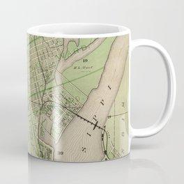 Vintage Map of Dubuque IA (1875) Coffee Mug