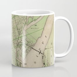 Vintage Map of Dubuque IA (1875) Coffee Mug