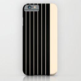 Stripes - Black & Beige iPhone Case