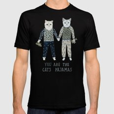 You are the Cat's Pajamas LARGE Mens Fitted Tee Black
