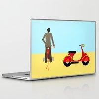 vespa Laptop & iPad Skins featuring VESPA by Joe Pansa