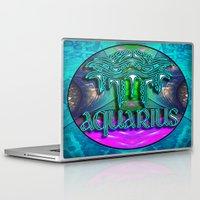 zodiac Laptop & iPad Skins featuring Aquarius Zodiac by CAP Artwork & Design