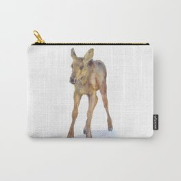 Moose Calf Watercolor Painting Carry-All Pouch