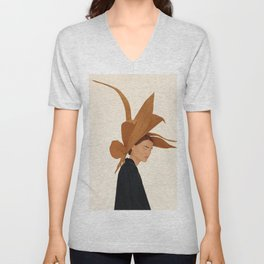 Dried Leaves Unisex V-Neck
