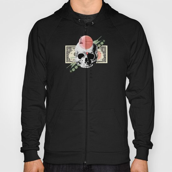 Money & Skull Collage Hoody