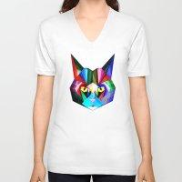 hunter V-neck T-shirts featuring hunter by hyperlexia