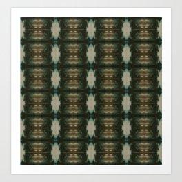 Emerald Shibori Art Print