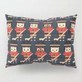 Super cute sports stars - Ice Hockey Red, Yellow and Black Pillow Sham