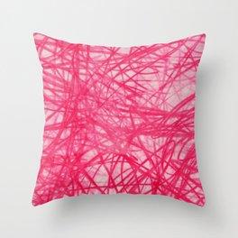Ophelia Pink Throw Pillow