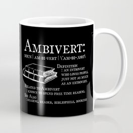 Ambivert - White on Black Coffee Mug