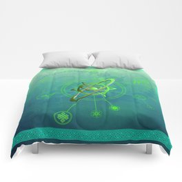 Acidum viridi anu conjunctio spiritualis et luna symbola cum seges circuli Comforters