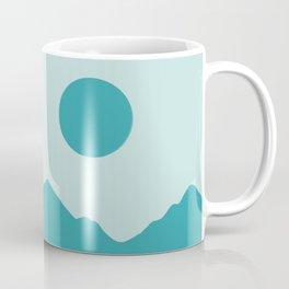 Blue Minimalist Mountainscape Coffee Mug