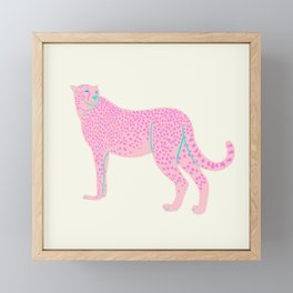 PINK STAR CHEETAH Framed Mini Art Print
