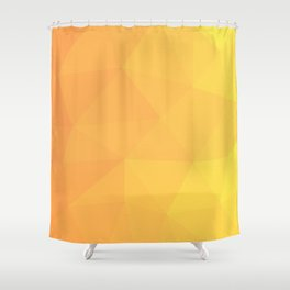 Abstract Geometric Gradient Pattern between Light Orange and Light Yellow Shower Curtain