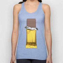 Chocolate candy bar in gold wrapper Unisex Tank Top