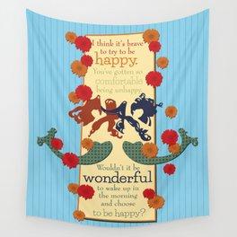 Happy Darling Mermaids Wall Tapestry