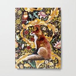 Fox King Original Water Color Metal Print