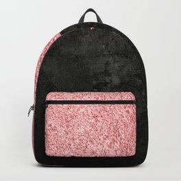 Rose Gold & Black Grunge Backpack
