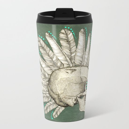 Indian skull Metal Travel Mug