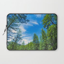 Siberian mountain taiga, mountains in the clouds, Altai Laptop Sleeve