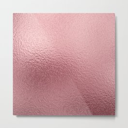 Pure Rose Gold Pink Metal Print