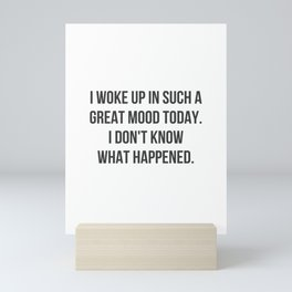 Great Mood Mini Art Print