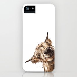 Sneaky Highland Cow iPhone Case