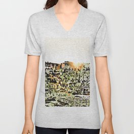 Sassi di Matera: view with sun Unisex V-Neck