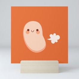Baked beans farting Mini Art Print