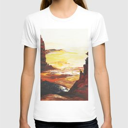 Landscape painting- The Indian - by LiliFlore T-shirt