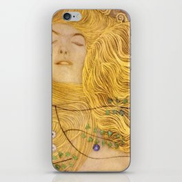 Gustav Klimt - Water Serpents, 1 (detail) iPhone Skin