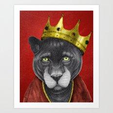 The King Panther Art Print