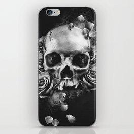 SKULL & ROSES II iPhone Skin