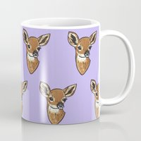 fawn Mugs featuring Fawn by turddemon