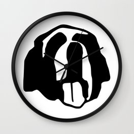 Saint Bernard face silhouette, Bernese Mountain Dog, Newfoundland Wall Clock