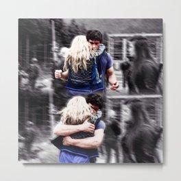 Bellarke hug Metal Print