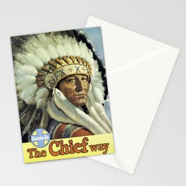 Vintage American Travel Poster - SANTA FE, THE CHIEF WAY Stationery Cards