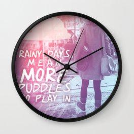 PUDDLE Wall Clock